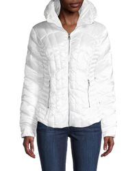 Karl Lagerfeld Quilted Puffer Jacket - White