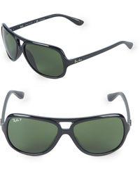 Ray-Ban 59mm Polarized Pilot Sunglasses - Black
