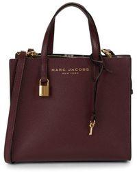 Marc Jacobs Mini Grind Coated Leather Satchel - Deep Purple