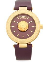 Versus Stainless Steel & Leather-strap Watch - Multicolor