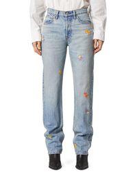 Hudson Jeans Women's Thalia Extreme Loose-fit Floral Jeans - Cherish - Size 28 (4-6) - Blue