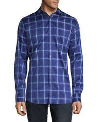 Bugatchi - Windowpane Cotton Button-down Shirt - Lyst
