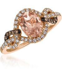 Le Vian - 14k Strawberry Gold®, Peach Morganitetm, Chocolate Diamonds® & Vanilla Diamonds® Ring - Lyst