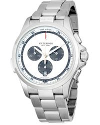 Victorinox - Night Vision Stainless Steel Chronograph Bracelet Watch - Lyst
