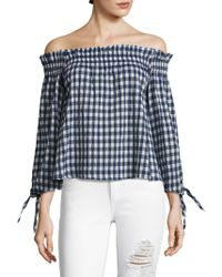 Mcguire - Pina Off-the-shoulder Smocked Top - Lyst
