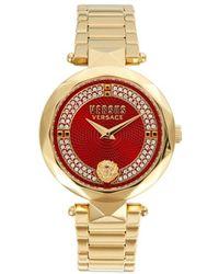 Versus Goldtone Stainless Steel & Crystal Bracelet Watch - Red