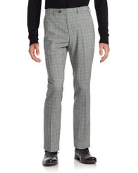 Original Penguin - Plaid Wool-blend Dress Trousers - Lyst