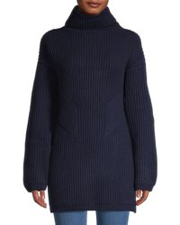 Thakoon Women's Chunky Geelong Lambswool Turtleneck Sweater - Charcoal - Size Xs - Blue
