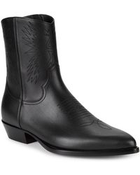 Valentino - Western Leather Boots - Lyst