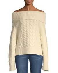 John Varvatos - Thea Off-the-shoulder Wool & Cashmere Sweater - Lyst