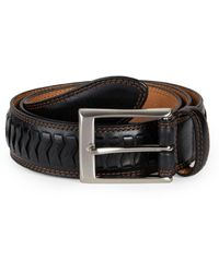 Cole Haan Men's Whitefield Leather Belt - Black - Size 32