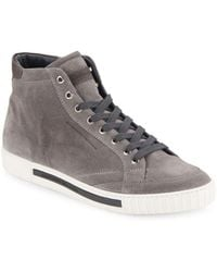 Alessandro Dell'acqua - Suede High-top Sneakers - Lyst