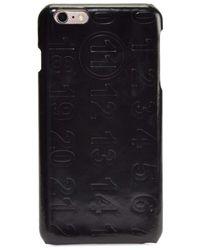 Maison Margiela Men's Numbers Leather Iphone 6 Case - Black