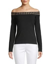 Elizabeth and James - Eniko Cutout Off-the-shoulder Top - Lyst