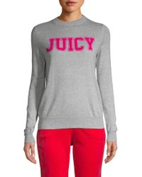Juicy Couture Classic Graphic Logo Jumper - Gray
