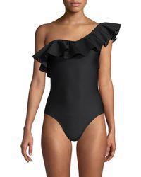 Mouillé Swimwear Ruffled 1-piece Swimsuit - Black