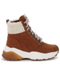 Kensie Women's Crown Faux Fur-lined Boots - Tan - Size 8.5 - Brown