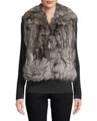 Adrienne Landau Natural Fox Fur Vest