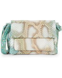 Nancy Gonzalez Python Shoulder Bag - Green