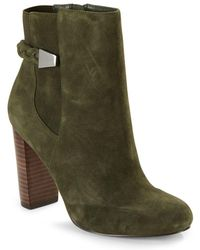 Saks Fifth Avenue - Ankle-length Stack Heel Boots - Lyst