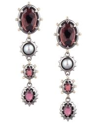 Alexis Bittar Women's Two-tone, Freshwater Pearl & Multi-stone Dangling Clip-on Earrings - Pink