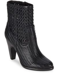 Frye - Celeste Woven Leather Booties - Lyst