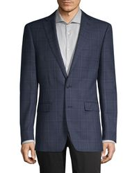 Calvin Klein - Slim-fit Windowpane Wool-blend Blazer - Lyst