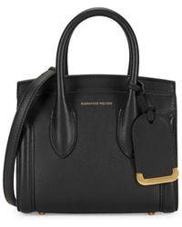 Alexander McQueen Heroine 21 Leather Tote Crossbody Bag - Black