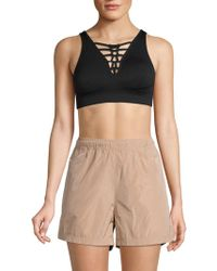 Nanette Lepore - Racey Lacey Racerback Lace-up Sports Bra - Lyst