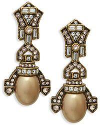 Heidi Daus - Deco Faux Pearl Drop Earrings - Lyst