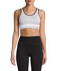 Calvin Klein Knit Logo Sports Bra - Multicolour