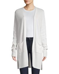ATM Open Front Cashmere Cardigan - White