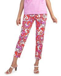 Trina Turk Moss Printed Trousers - Pink