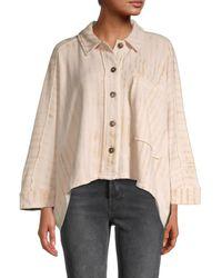 Free People Montauk Raw-edge Shirt Jacket - Multicolour
