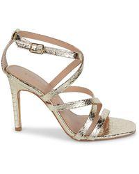BCBGeneration Embossed Strappy Sandals - Metallic
