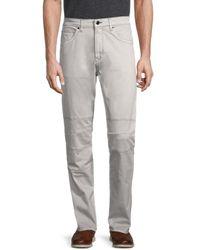 Karl Lagerfeld Moto Panelled Jeans - Grey