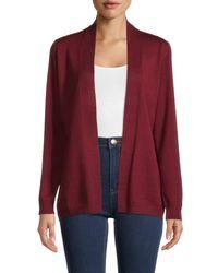 Love Token Women's Jacky Cardigan - Wine - Size Xs - Red
