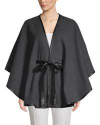 Calvin Klein Wrapped Cape Coat - Grey