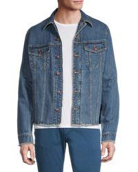Zadig & Voltaire Base Cutoff Denim Jacket - Blue
