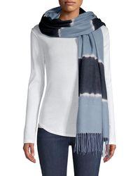 Charlotte Simone Colorblock Wool Scarf - Blue