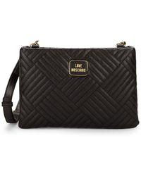 4c100ecf5fb Love Moschino Classic Leather Fanny Pack (black) Handbags in Black ...