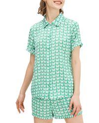 Kate Spade Butterfly 2-piece Pyjama Set - Green