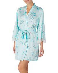 Kate Spade Three-quarter Floral Lace Robe - Blue