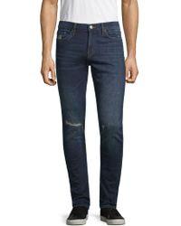 J Brand - Mick Distressed Skinny-fit Jeans - Lyst