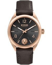 Versus Men's Rose Goldtone Stainless Steel & Leather-strap Watch - Pink