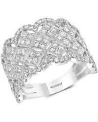 Effy - 14k White Gold & Diamond Ring/size 7 - Size 7 - Lyst