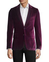 Paul Smith Velvet Soho Jacket - Blue