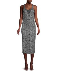 Lucca Couture Leopard-print Tank Dress - Gray