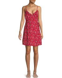 Sanctuary Floral-print Wrap Dress - Red