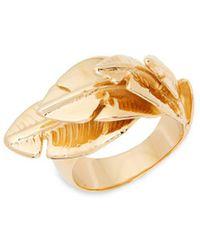 Aurelie Bidermann - Talitha Goldplated Leaf Ring - Lyst